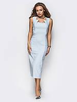 Восхитительное офисное платье-футляр Modniy Oazis серый 90262, фото 1