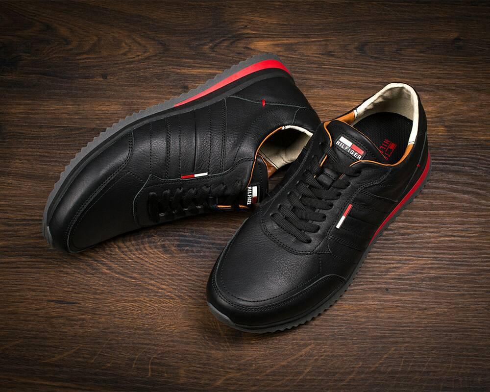 Мужские кожаные кроссовки Tommy Hilfiger (7530-1) - Интернет-магазин
