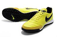 Футбольные сороконожки Nike Tiempo X Genio II TF Volt/Black, фото 1