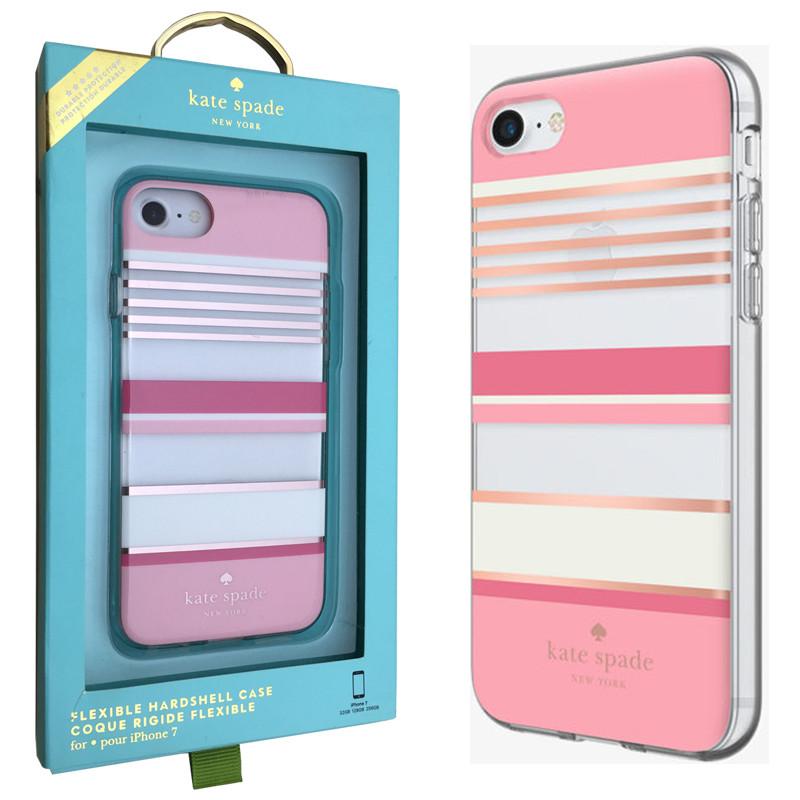 Чехол-Накладка Kate Spade New York Flexible Hardshell для iPhone 7/8 (KSIPH-054-BSPRG)