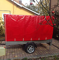 Тент на прицеп легкового авто из ПВХ ткани- Бельгия