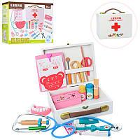 """Іграшковий набір """"Доктор"""": інструменти зубного лікаря у валізці, дерево"""