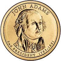 США 1 доллар 2007, 2 президент Джон Адамс (1797—1801)