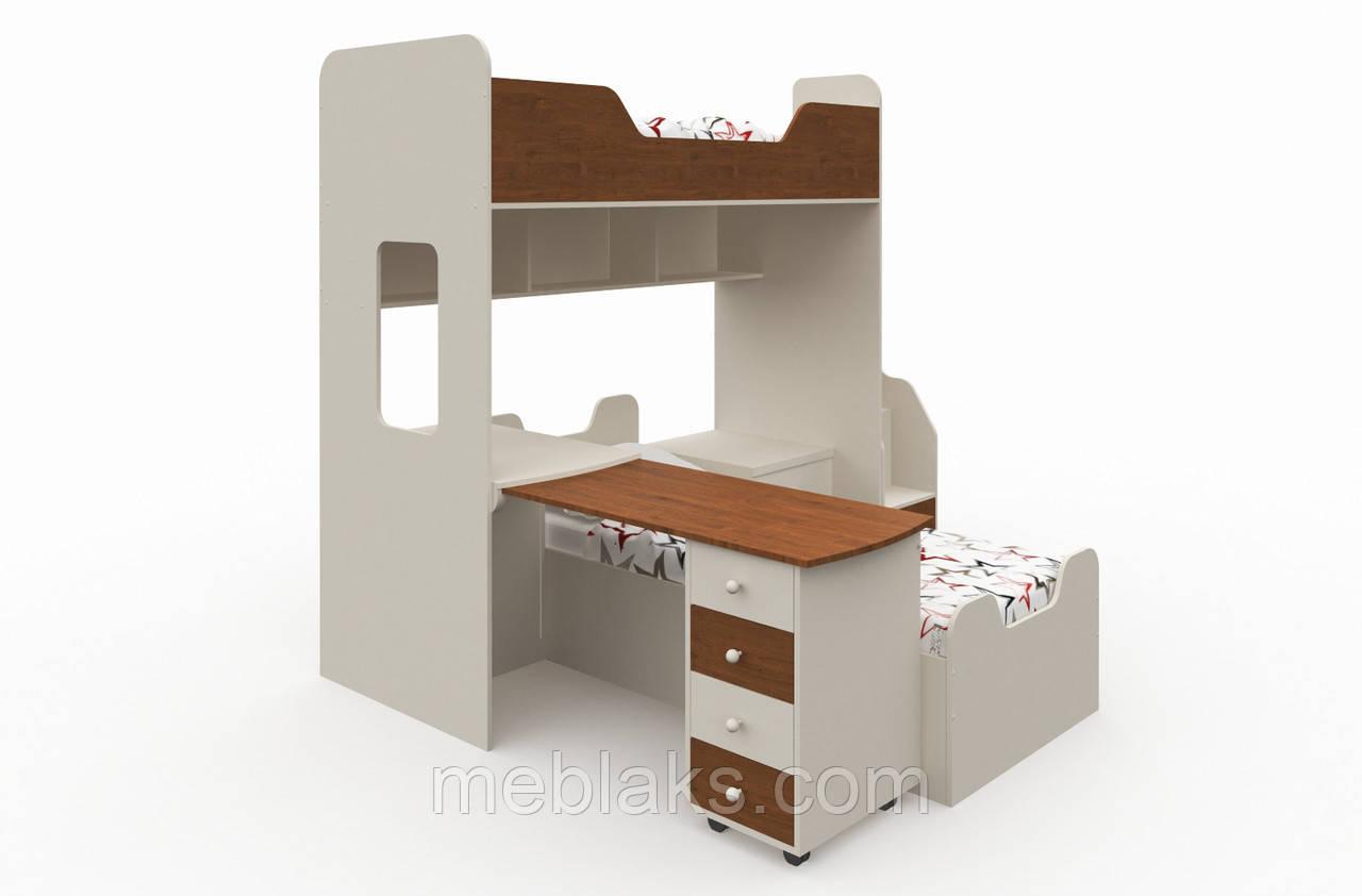 Двухъярусная кровать для детей и подростков «Челси»