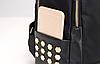 Рюкзак городской с золотыми заклепками, фото 9