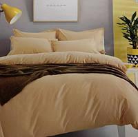 Комплект постельного белья евро сатин Prestij Textile бежевый