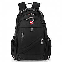 Швейцарский рюкзак MOD-8810 с накидкой от дождя Черный
