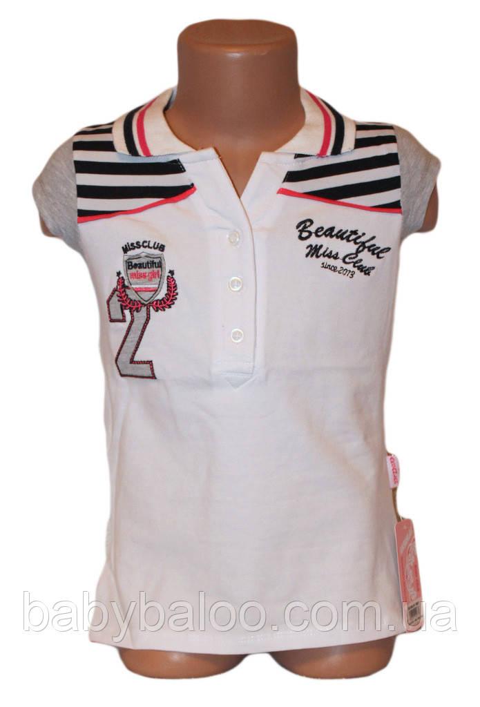 """Модная рубашка для девочки """"Polo""""(от 7 до 10 лет)"""
