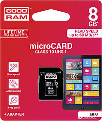 Карта пам'ятi GOODRAM microSDHC 8GB Class 10
