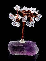 Дерево счастья из горного хрусталя 80х35хмм. 025653