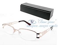 Очки женские для зрения с диоптриями +/-, антибликовые Код:723, фото 1