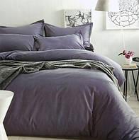 Комплект постельного белья евро сатин Prestij Textile фиолет