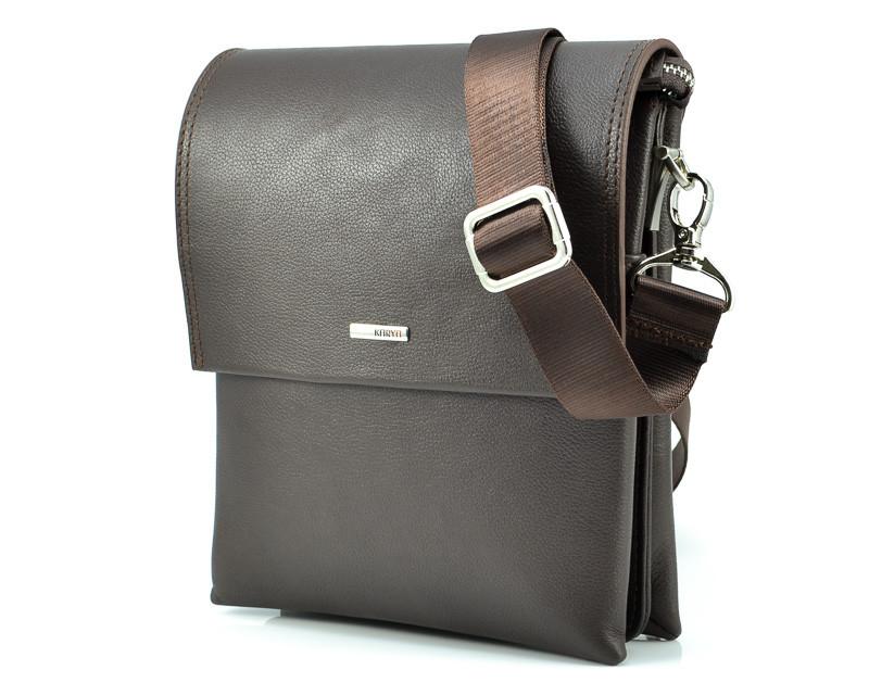 Коричневая мужская сумка Karya 0785-39 (Турция)