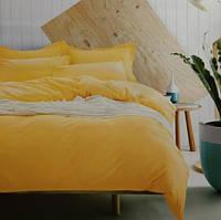 Комплект постельного белья евро сатин Prestij Textile желтый
