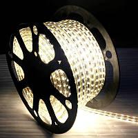 LED лента Biom 220V SMD5050 60led/m 6W IP68 Белый  (бобина 50м)
