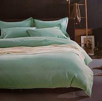 Комплект постельного белья евро сатин Prestij Textile ментоловый