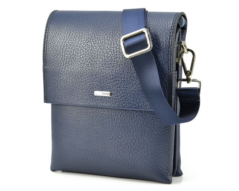 Синяя мужская сумка Karya 0785-44 (Турция)