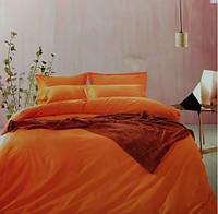 Комплект постельного белья евро сатин Prestij Textile морковный
