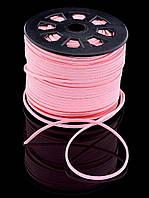 034798 Шнурок розовый для кулонов и подвесок Эко кожа 100 см.