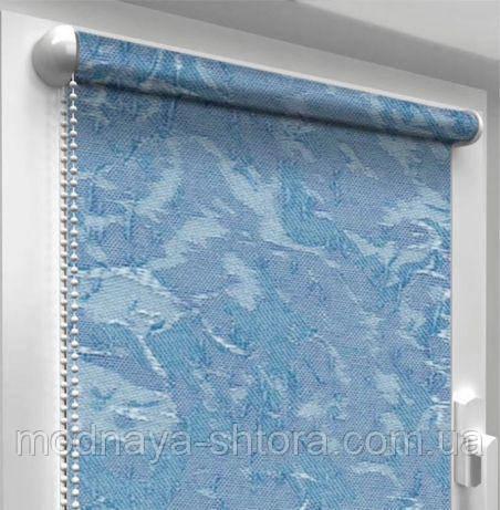"""Тканевые рулонные шторы """"Oasis"""" венеция (небесно голубой), РАЗМЕР 62,5х170 см"""