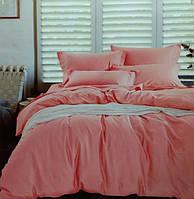 Комплект постельного белья евро сатин Prestij Textile розовый