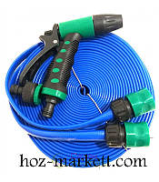 Шланг для полива 15 м, 3х-слойный, распылитель, 2 коннектора