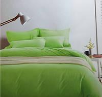 Комплект постельного белья евро сатин Prestij Textile салатовый