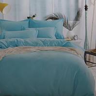 Комплект постельного белья евро сатин Prestij Textile бледно-голубое