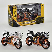 Мотоцикл металло-пластик 2 цвета, в кор. /144/