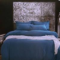 Комплект постельного белья евро сатин Prestij Textile темно-бирюзовое