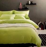 Комплект постельного белья евро сатин Prestij Textile фисташковый