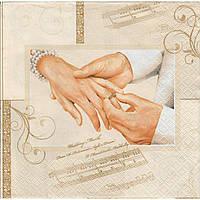 Салфетка для декупажа Свадебный марш 33см х 33см