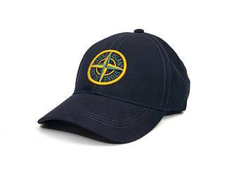 Спортивная кепка Stone Island темно-синего цвета (люкс копия)