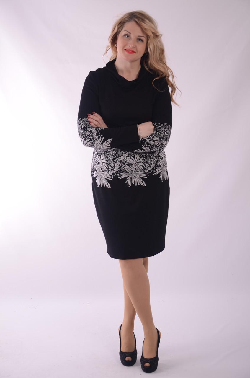 Платье черное с красным ,платье черное вечернее короткое трикотажное 50 р , 52, 54, 56 боталы., Пл 070-2