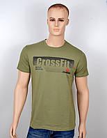 """Мужская футболка """"Reebok Crossfit"""" хаки, фото 1"""