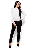 Белая шифоновая блуза, фото 1