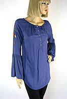 блуза туніка з вишивкою з рукавом воланом