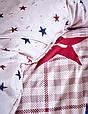 Детское постельное белье ранфорс Karaca Home Peace бордовое подростковое, фото 3
