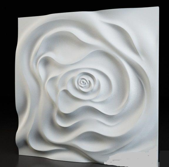 "Пластиковая форма для 3d панелей ""Роза"" 50*50 (форма для 3д панелей из абс пластика)"