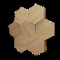 """Пластикова форма для виготовлення 3d панелей """"Сота"""" 50*53 (форма для 3д панелей з абс пластику)"""