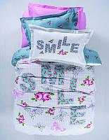 Детское постельное белье ранфорс Karaca Home Smile подростковое