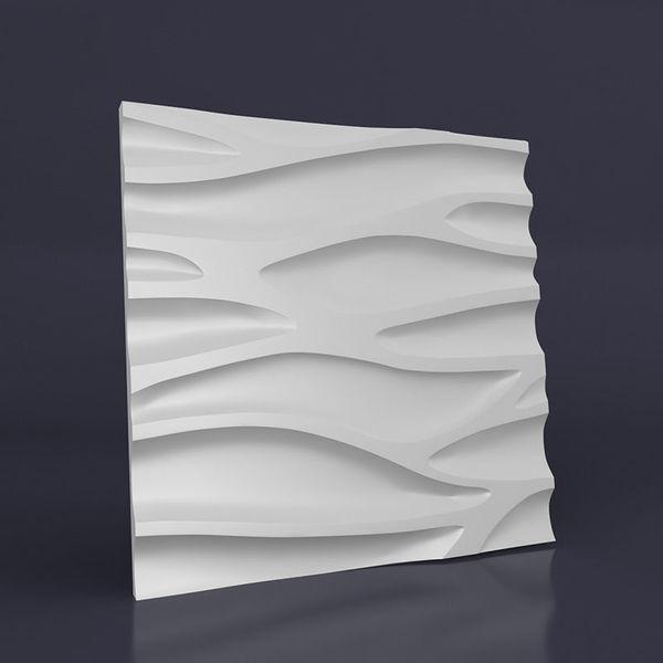 """Пластиковая форма для изготовления 3d панелей """"Каскад"""" 50*50 (форма для 3д панелей из абс пластика)"""