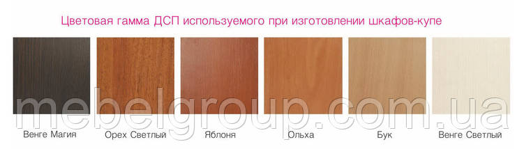 Шафа купе Стандарт 210*60*210 Вільха, фото 3
