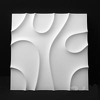 """Пластиковая форма для изготовления 3d панелей """"Вуаль"""" 50*50 (форма для 3д панелей из абс пластика), фото 1"""