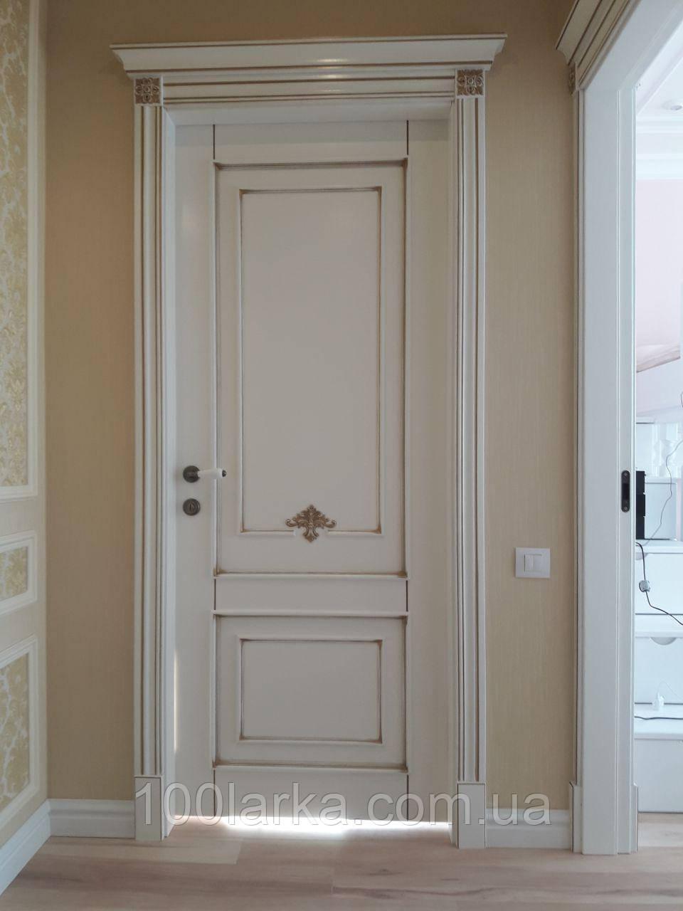 Двери межкомнатные из натурального дерева ясень, фото 1