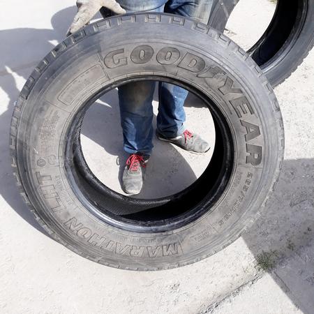 Шины б.у. 265.70.r19.5 Goodyear Marathon LHT Гудиер . Резина бу для грузовиков и автобусов