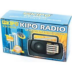 Радіоприймач KIPO-KB 308AC FM Радіо, аналог, чорне