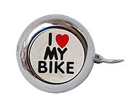 Велосипедный звоночек I LOVE MY BIKE (хром)