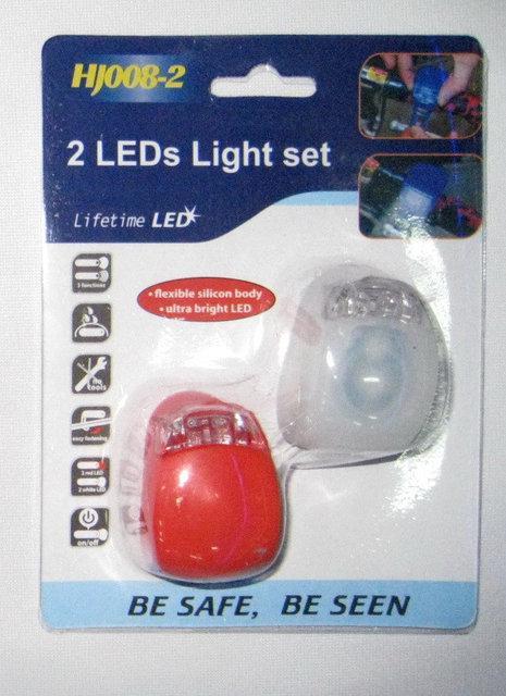 Фонарь велосипедный HJ008-2 2 LEDs Light set