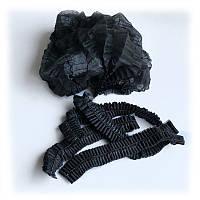 Одноразовые шапочки, шарлотки, на двойной резинке Polix 100 шт, черные